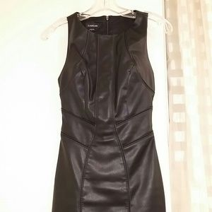 NWOT Bebe thick faux leather dress